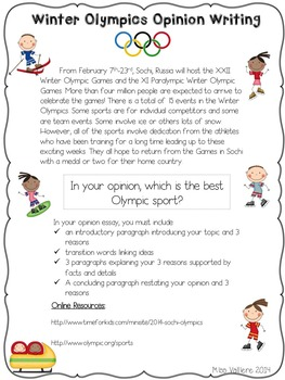Winter Games Opinion Writing