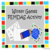 Winter Sports Order of Operations (PEMDAS) Coloring Page Activity