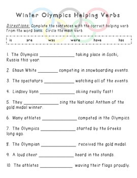 Winter Olympics Pack {ELA and Math} - graphing/parts of speech/reading
