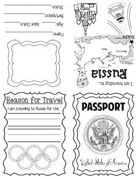 Winter Olympics Passport