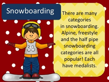 Winter Olympics Power Point - Banner *Pennant*-Writing Prompts/Bulletin Board