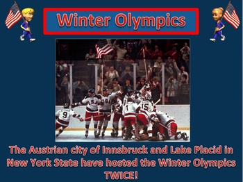 Winter Olympics Power Point Lesson and Interactive Quiz