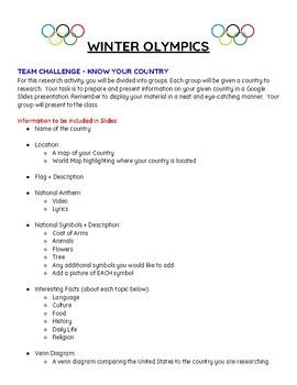 Winter Olympics PowerPoint/Google Slides Presentation
