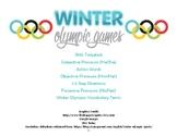 Winter Olympics Pronouns, Actions, Vocabulary Language Packet