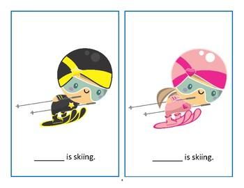 Winter Olympics Pronouns, Actions, Vocabulary Language Packet