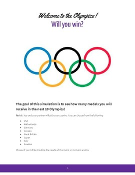 Winter Olympics - Random Number Simulation with Experimental Probability!