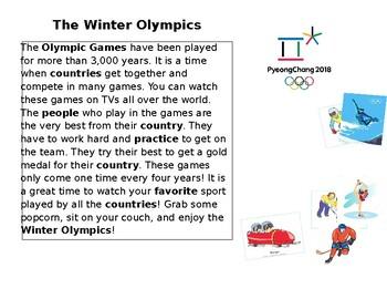 Winter Olympics Reading Passage