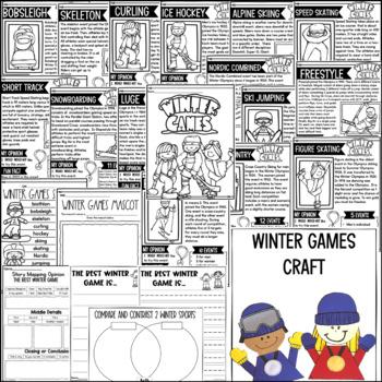 Winter Sports-Reading, Writing, Research, Word Work & Fun!