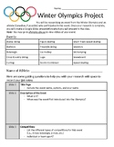 Winter Olympics Research Project