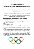 Winter Olympics Research Task