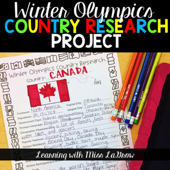 Winter Olympics Research Writing Activity