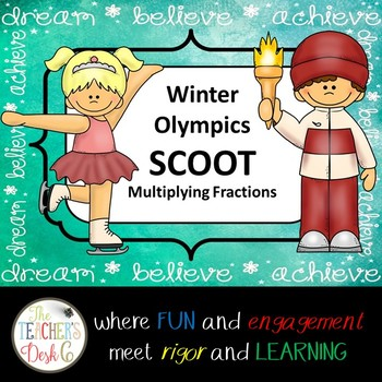 Winter Olympics SCOOT Multiplying Fractions