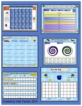 Winter Olympics SMART Board Activity Pack ~10 Activities, Language and Math