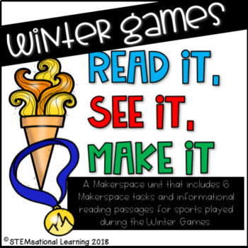 Winter Olympics STEM Makerspace Task Cards and Reading Passages