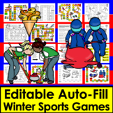 Winter Games 2018:  Olympic Sight Words Game Boards - firs