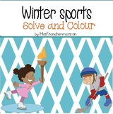 Winter Sports - Solve and Colour