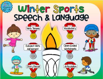 #PresidentSale Winter Sports Speech and Language Activities