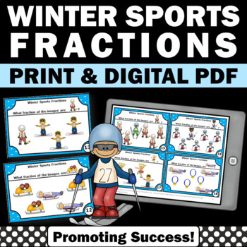 3rd Grade Fractions Common Core, 2nd Grade Fraction Task Cards, Math Centers