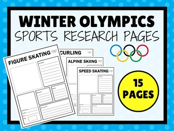 Winter Olympics Sports Research Pages 2014
