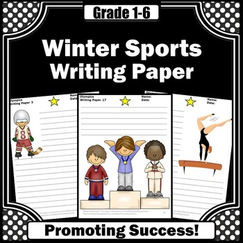 Winter Writing Paper, Olympics Sports Theme, Literacy Centers