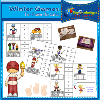 Winter Games Ten Frame Clip Cards