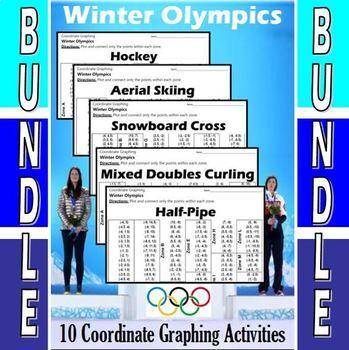 Winter Olympics - The Big Bundle - 10 Coordinate Graphing Activities
