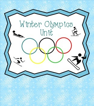 Winter Olympics Unit for Smartboard or Literacy Center