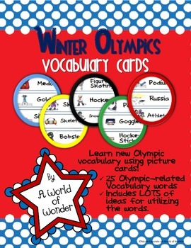 Winter Olympics: Vocabulary Cards (Word Wall)