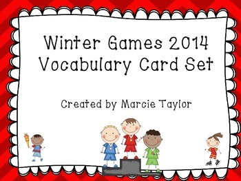 Winter Games 2014 Vocabulary Set - Sochi - Common Core Aligned