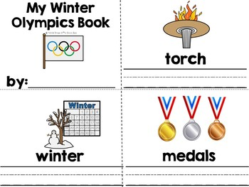 Winter Olympics Vocabulary Word Wall With Make & Take Book (autism, SPED, SLP)