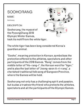 Winter Olympics WH Question Worksheet