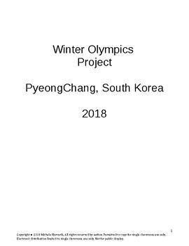Winter Olympics Webquest Sochi 2014
