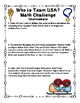 Winter Olympics - Who is Team USA Math Challenge FREEBIE