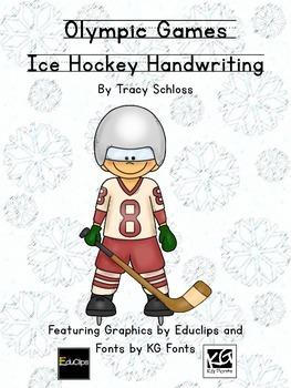 Winter Olympics, Winter Olympic Games, Ice Hockey Handwriting
