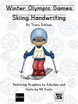 Winter Olympics, Winter Olympic Games, Skiing Handwriting