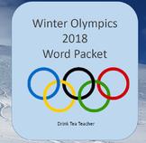 Winter Olympics Word Cards