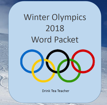 Winter Olympics Word Cards
