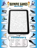 Winter Olympics Word Search Vocabulary Activity