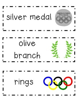 Winter Olympics Word Wall Cards