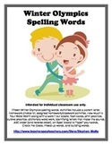 Winter Olympics Words and Activity Packet