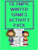Winter Olympics Worksheet Pack
