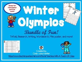 Winter Olympics Activity Bundle