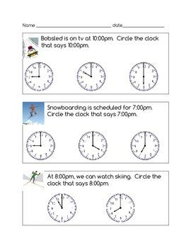 Winter Olympics Writing & Math Activities