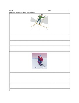 Winter Olympics Writing & Math Activities