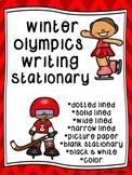Winter Olympics Writing Paper--Winter Olympics Writing Sta