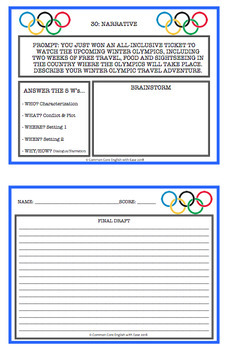 Winter Games Writing Prompts