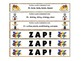 Winter Olympics ZAP! Alphabetical Order