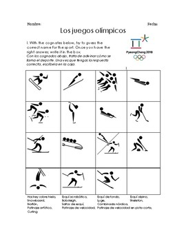 Winter Olympics and Verbs like Gustar