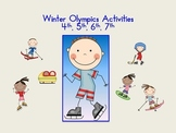 Winter Olympics Activities  fourth, fifth, sixth, seventh grade