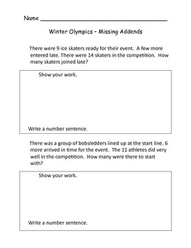 Winter Olympics in the Primary Classroom
